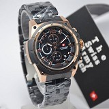SWISS ARMY Watch[SA1178]-BlackRose/Gold - Jam Tangan Pria Casual
