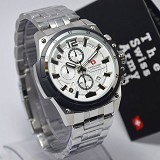 SWISS ARMY Watch[SA1178]-Silver/White - Jam Tangan Pria Casual