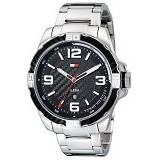 TOMMY HILFIGER Watch [1791092] - Silver/Hitam - Jam Tangan Pria Casual