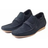 KEEVE SHOES Suede Belt Size 43 [KBP049] - Black - Loafer dan Slip On Pria
