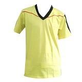 ALL SPORT Polo Pria Katun Size S [KP 003 KH] - Kuning/Hitam/Merah - Kaos Pria