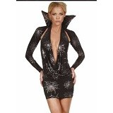 HAILADIES Sexy Dracula Halloween Costume [PC 550] - Black - Mini Dress Wanita