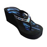 SAKIA Miami Wedges Sandal Size 37 - Blue - Wedges Wanita