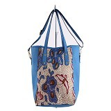 SOGNO ACCESSORIES Sierra Tote Bag Batik - Blue