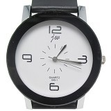 ESA Fashionable Stainless Steel Silicone Band Quartz Watch [JW045-1] - Black - Jam Tangan Pria Fashion