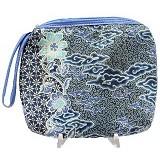 SMESCO Dompet Batik Motif Bunga [187-040174] - Biru - Clutches & Wristlets Wanita