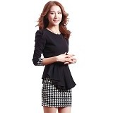 METALINDO Farra Dress Size M [XY61060] - Black - Mini Dress Wanita