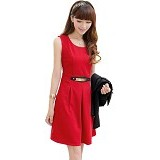 METALINDO Tephie Dress Size L [XY61105] - Red - Mini Dress Wanita