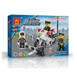 WANGE Bricks Police Motorcycle [24011N]