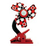 LUCKY BABY Mini Fan Safety Clip [LB 8920] - Red - Kipas Angin Meja
