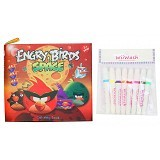 WIIWASH Washable Book with Markers - Engry Birds Space - Buku Seni Gambar
