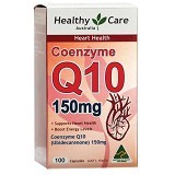 HEALTHY CARE Coenzyme Q10 150 gr 100 Caps [HCCOEQ10] - Suplement Pencegah Penyakit Jantung / Kolesterol