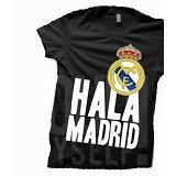 JURAGAN KAOS Quotes Real Madrid Size M - Black - Kaos Pria