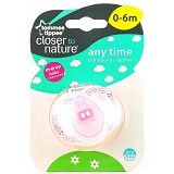 TOMMEE TIPPEE Closer To Nature Anytime Soother [TT/09/021-433354A] - Pink - Dot Bayi / Pacifier & Teethers