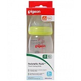 PIGEON Wide Neck Nursing Bottles with Peristaltic Plus Nipple 240ml [9974] - Botol Susu