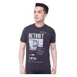 F&P T Shirt Detroit Size XL [007-TS.002] - Charcoal - Kaos Pria