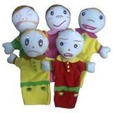 HANUN TOYS Boneka Tangan Orang Ekspresi - Boneka Kain