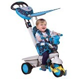 SMART TRIKE 4 in 1 Dream Touch Steering Tricycle - Blue