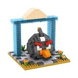 LOZ Gift Large Angry Bird [9518] - Black - Building Set Movie