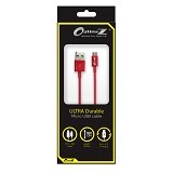 OPTIMUZ V8 Kabel Data Micro USB 3Meter - Red - Cable / Connector Usb