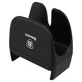 BASEUS Rein Series Steering Wheel Car Mount - Black - Gadget Docking