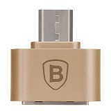 BASEUS Plug And Play Micro OTG Adapter - Gold - Cable / Connector USB