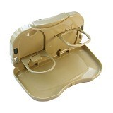 LACARLA Car Seat Drink Holder and Food Tray - Coklat - Organizer Mobil