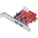 UNITEK PCIE USB 3.0 2 Port [Y-7301] - Memory Card Reader Internal
