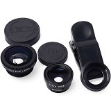 29 SELULER Universal Clip Lens 3 in 1 - Black - Gadget Activity Device