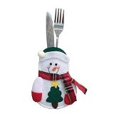 2M SISTERS Heart Scraf Christmas Snowman Tableware Bag [02567D] -White (Merchant) - Peralatan Makan Set