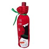 2M SISTERS Snowman Wine Bottle Bag [025686] - Red (Merchant) - Gift Bag