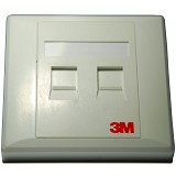 3M Face Plate 2 Port - Faceplate