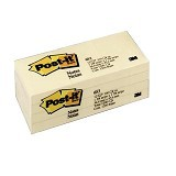 3M Post-it 653 - Canary Yellow (Merchant) - Sticky Notes
