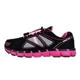 910 Kaza Gb Kid Size 33 - Black/Hot Pink/White (Merchant) - Sepatu Anak