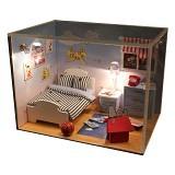 A1TOYS DIY Miniature House Kamar Awan Lampu LED & Akrilik HF (Merchant) - 3d Puzzle