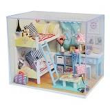 A1TOYS DIY Miniature House Kamar Kakak dan Adik [YE] (Merchant) - 3d Puzzle