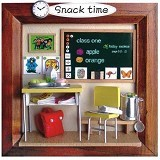 A1TOYS DIY Rumah Miniatur Art And Craft Snack Time Pigura (Merchant) - 3d Puzzle