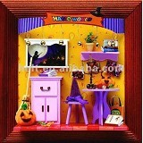 A1TOYS DIY Rumah Miniatur Art & Craft Magic World Pigura (Merchant) - 3d Puzzle