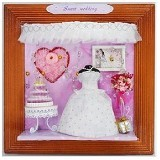 A1TOYS DIY Rumah Miniature Art & Craft Sweet Wedding Pigura (Merchant) - 3d Puzzle