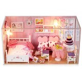 A1TOYS Dollhouse DIY Kamar Pengantin Plus Lampu LED & Akrilik OL (Merchant) - 3d Puzzle