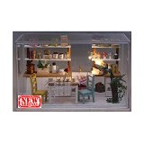 A1TOYS Miniatur House DIY Sweet Kitchen Art & Craft (Merchant) - 3d Puzzle