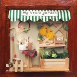 A1TOYS Miniature House DIY Art & Craft My Little Garden Pigura (Merchant) - 3d Puzzle