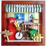 A1TOYS Miniature House DIY Art & Craft Post Office Pigura (Merchant) - 3d Puzzle