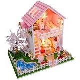 A1TOYS Rumah Miniatur DIY Villa Musim Semi Lampu LED SR (Merchant) - 3d Puzzle