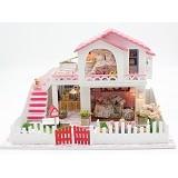 A1TOYS Rumah Rumahan DIY Villa Hati Lampu LED & Music Box SH (Merchant) - 3d Puzzle