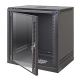 "ABBA Package C - 19"" Wallmounted 15U-450mm - Black - Rack System Wallmount"