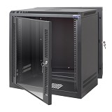 "ABBA Package G - 19"" Wallmounted 8U-600mm - Black - Rack System Wallmount"
