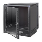 "ABBA Package H 19"" Wallmount 12U-600mm - Black - Rack System Wallmount"