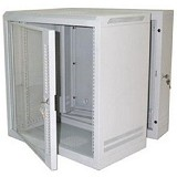 "ABBA Package I - 19"" Wallmounted 15U-600mm - Grey - Rack System Wallmount"