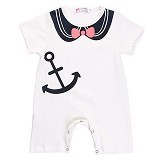 ABBY BABY Sailor Romper Size 100 (Merchant)
